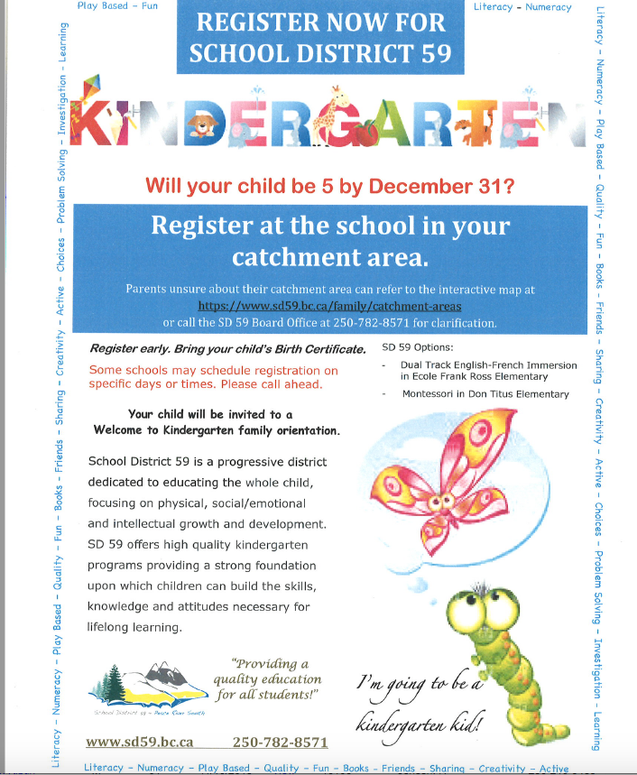 Kindergarten Registration Sept 2020